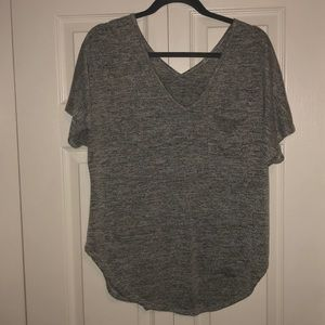 Gray Charlotte Russe pocket t-shirt